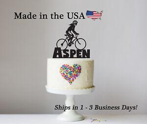 Girl Bicyclist Cake Topper, Birthday Party, Girls Party, Bike, Keepsake - LT1237