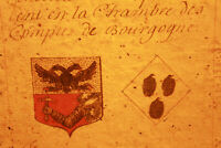 c1700 medieval genealogy manuscript ab 1571 king advisor familly coat of arms #3