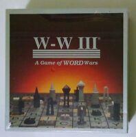 1993 Genco W-W III: A Game of WORD Wars - Board Game BRAND NEW SEALED