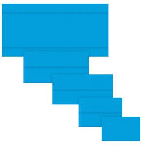 Bâche à bulles piscine rectangulaire de protection couverture extérieure bleu