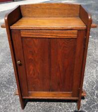 Old Antique Mission Oak Music One Door Side Table Cabinet Arts & Crafts Stickley