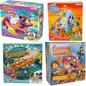 Tomy Kids Games Fizzy Dizzy, Phil The Fridge, Crunching Crocodile, Greedy Granny