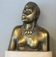 ROGER NIVELT rare bronze numéroté art déco Femme Africaine Haute Volta Ouaygouya