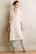92098 New $88 Floreat Anthropologie Gauze Peach Long Sleeve Dress Medium M 6 US