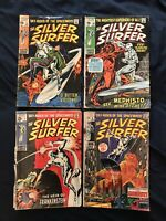 SILVER SURFER Silver Age Lot of 4 comics #7, 8, 11 & 16 - Low grade readers