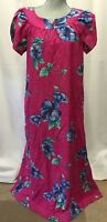 Vintage Hilo Hattie Women's Dress Muu Muu Floral Hawaiian Large Full MAXI
