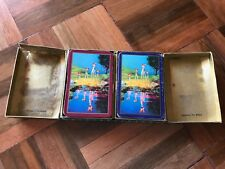 antique vintage waddingtons playing cards double deck boxed animals deer fawn