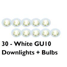 30 X GU10 Foco Empotrado Downlight de red 240 Voltios Bombillas Downlighter Inc
