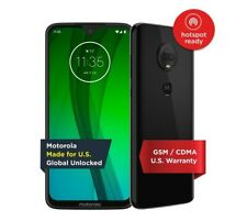 New Motorola Moto G7 64GB Smartphone Black Unlocked GSM CDMA Cell Phone