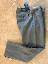 Polo Ralph Lauren Flat Front Chino Pants Men's 38 x 33 Gray Classic Fit NWT $89