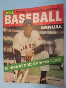 1955 DELL BASEBALL ANNUAL #4 - Willie Mays Cover -Excellent - NY GIANTS