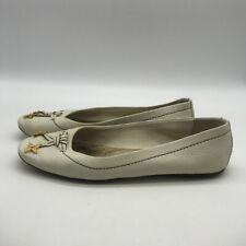Louis Vuitton White Leather Flats Size 7