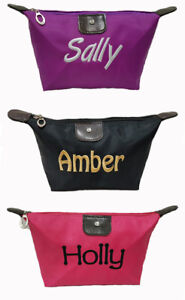 Personalised Embroidered Pencil Case Cosmetic Bag Zipped School
