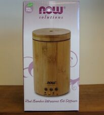 Now Foods Ultrasonic Real Wooden Bamboo Essential Oil Diffuser Aromatherapy