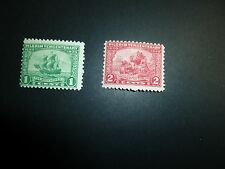 United States Scott 548 - 549, the 1 cent green and 2 cent red Pilgram MINT