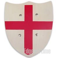 ENGLAND ST GEORGE'S RED CROSS WOODEN ROLE PLAY SHIELD CHILDS TOY
