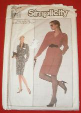 8824 Simplicity Dennis Goldsmith Designer Misses 12 Wrap Dress Sewing Pattern
