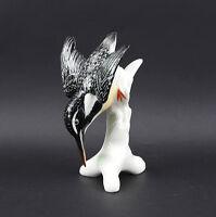 9941210 Porzellan Figur Stürzender Sumpf-Eisvogel Vogel Ens 10x16cm