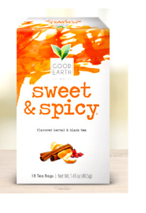 Good Earth Sweet & Spicy original herbal tea 1 Box  25 tea Bags