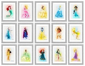Disney Princess Posters/Pictures Girls Bedroom A4 PRINT ONLY