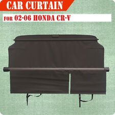 For 02-06 Honda CR-V Cargo Cover Retractable BLACK Rear Truck Luggage Shade