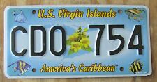 US VIRGIN ISLANDS - ST CROIX - CARIBBEAN ISLAND license plate  2005  CDO 754