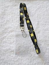 SPONGEBOB SQUAREPANTS LANYARD & Clear Plastic ID CARD BADGE PASS HOLDER Black