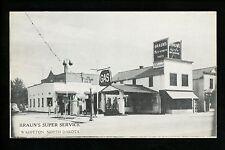 North Dakota ND postcard Wahpeton, Braun's Super Service Gas Station Firestone
