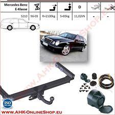 Gancio traino fisso Mercedes Classe E S210 1996-2003 + kit elettrico 13-poli