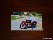 Vintage Triumph Postcard 150 Terrier schoolboy Johnson Motors nos pre unit era