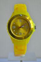 Montre Enfants Filles Garçons Bracelet Silicone Petit Watch Couleur JAUNE