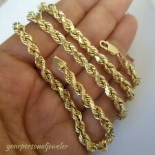 14k yellow gold 5 mm rope chain 26 inches long