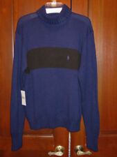 POLO RALPH LAUREN MENS CLASSIC BLUE / BLACK TURTLE NECK SWEATER SIZE SMALL NWT