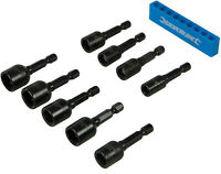 9pc Imperial 1/4 - 1/2'' Magnetic Nut Driver Bit Set 1/4'' Hex Drive Power Drill
