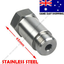 Stainless Steel Straight O2 Spacer Oxygen Sensor Extension M18x1.5 CEL Fix
