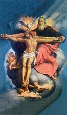 Heiligenbildchen Dreifaltigkeit 12x7cm Gott Vater Jesus Heiliger Geist HBK 5165