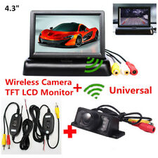 4.3''HD TFT LCD Monitor+Wireless Car Reverse Rearview Backup Night Vision Camera