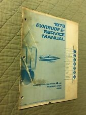1973 EVINRUDE SERVICE MANUAL YACHTWIN LIGHTWIN 4 HP OUTBOARD SHOP MODELS 4306 36