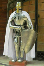 Fully wearable medieval knight suit of templar armour nautical full body armour