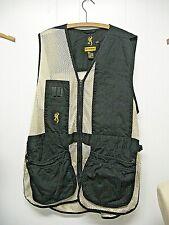 Browning Mesh Trap/Skeet Shooting Vest  Black & Tan size large L LEFT-HAND