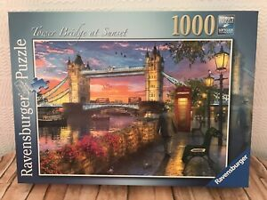 Tower Bridge At Sunset, Ravensburger 1000 Pc Jigsaw Puzzle, Thames Telephone Box