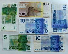 Banknoten Holland/ Niederlande 10 Gulden 1968, 5 Gulden 1973 & 100 Gulden 1977