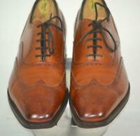 Ralph Lauren Purple Label x Edward Green Brown Wing Tip w/Brogue SHOES 8.5 C