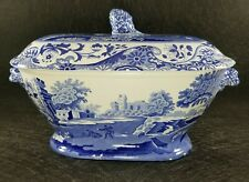 Rare Vintage SPODE Italian Blue Tureen Made in England