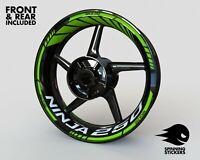 "Wheel Stickers for Kawasaki Ninja 250 Rim Tape Motorcycle Decals Graphics 17"""