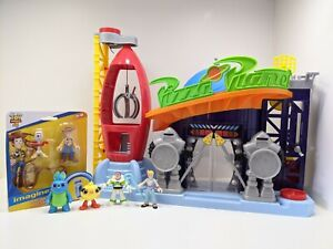 Imaginext Toy Story Bundle Pizza Planet 6 Figs Buzz Bo Woody Forky Bunny Ducky