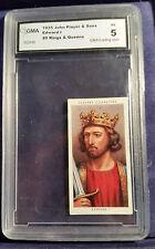 1935 JOHN PLAYER & SONS #9 KINGS & QUEENS EDWARD 1 CIGARETTE CARD GMA  EX DBW