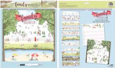 Family Organiser Month View 36cm Planner Calendar 5 Column One Month View Garden