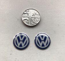 VW Golf Bora Beetle Scirocco Passat T5 Lupo clés de voiture autocollant logo bleu x2 14 mm