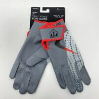 NWT Nike Mike Trout Force Edge Batting Glove Medium Gray Baseball Softball Adult